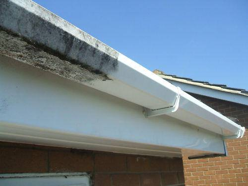 Gutter clean before and after